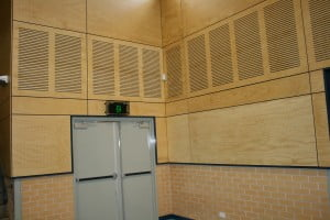 Acoustic panels in a Sydney gymnasium