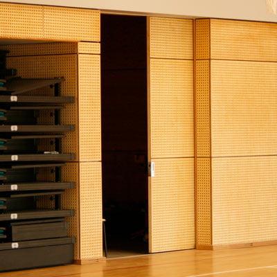 sliding door plywood panel overlays