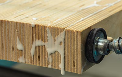 Plywood cladding glue