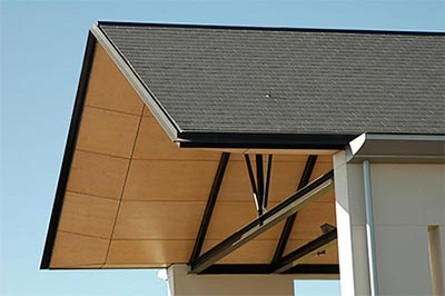 Plywood cladding roof
